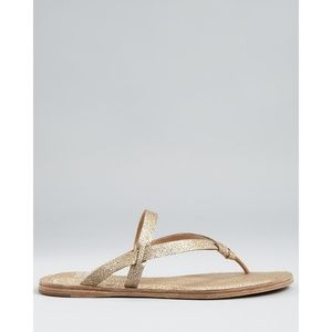 Eileen Fisher Bare Thong Leather Sandal 7.5